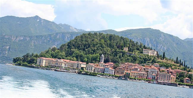 the luxury resort of Bellagio on lake Como